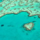 View the famous Heart Reef from the sky - the only way to see it!