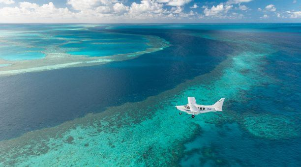 See the amazing stretches of Reef from your Flight